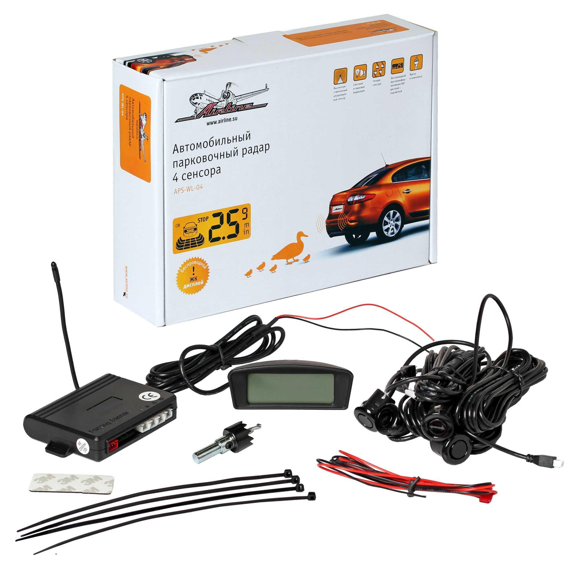 Купить Парковочный радар Airline APS-4L-01 в интернет магазине DNS. Характеристики, цена Airline APS-4L-01   6638025