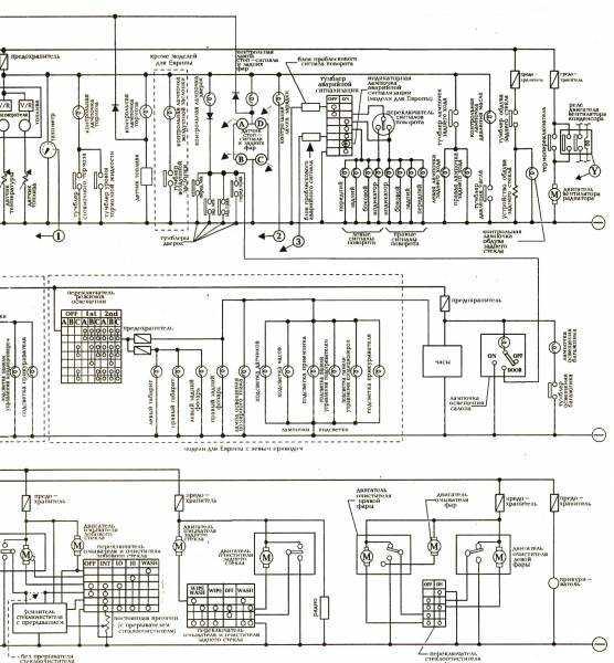 Электросхема наружного освещения Nissan Note